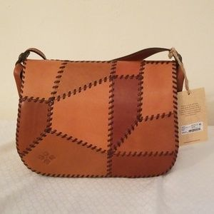 **NWT**Patricia Nash Postiano patchwork tan